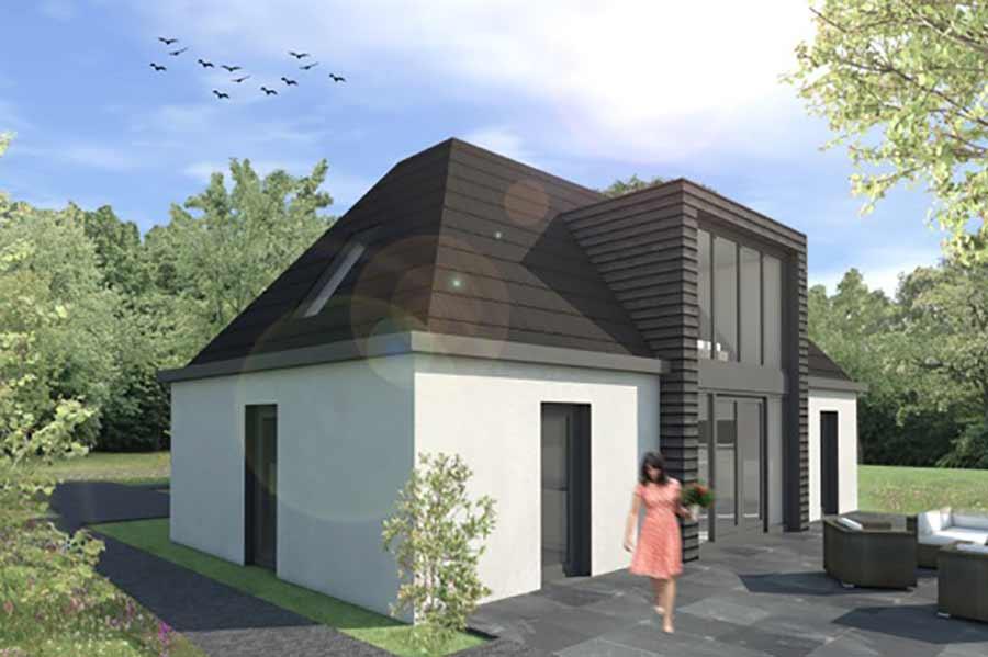 Illustratie van een toekomstige woning