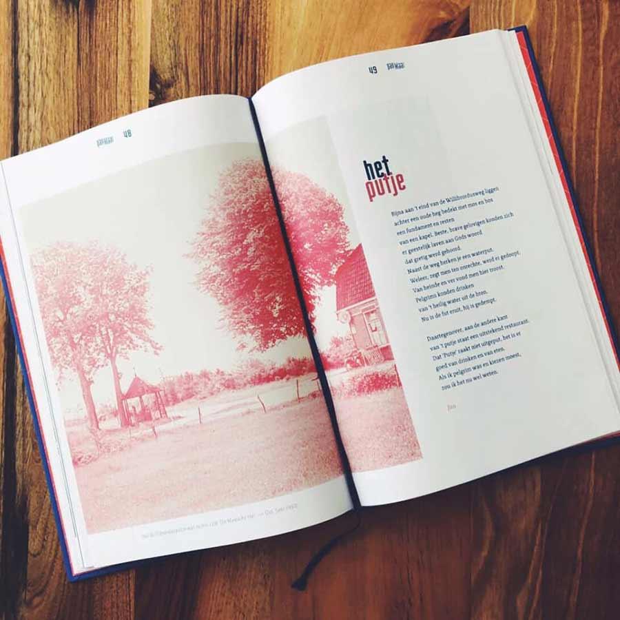 Opengeslagen boek met artikel over Het Putje in Oss