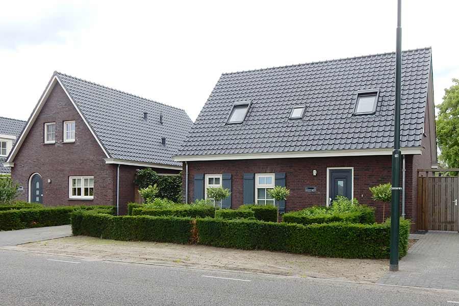 Vooraanzicht herbouw van een woning in Sint Michielsgestel